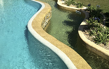 Swimming pool finishes - Pebble Fina